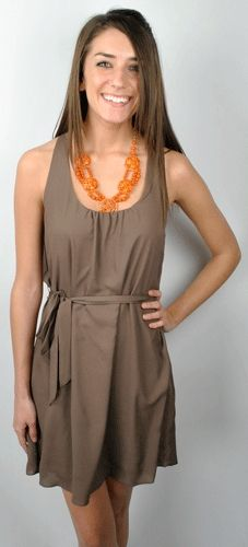 awesome brown #dress...want!