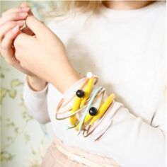Recycle spare and single knitting needles to create these unusual and fun bracelets! (via Time for Tea)