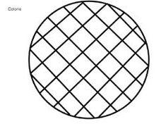 fiche de coloriage de galette quadrillée en diagonale