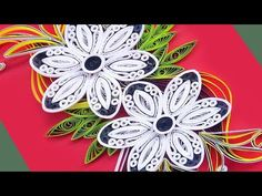 Paper art, How To Make Beautiful Quilling Flowers Design Birthday Card Quilling Flower Designs, Quilling Flowers Tutorial, Quilling Instructions, Paper Quilling Flowers, Paper Quilling Patterns, Arte Quilling, Quilling Videos, Quilling Craft, Quilling Techniques