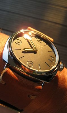 Great shot of a Panerai - love the strap combo