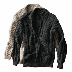 Irish Cable Cardigan from TravelSmith
