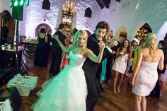 This St Louis Wedding is really rockin' it at the Westwood Country Club.  Photo by Josephine.