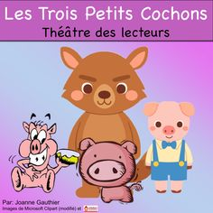 This is a Readers' Theatre script for The Three Little Pigs in French. Pig In French, Ap French, Core French, Learn French, French Language Classes, French Fairy Tales, Dual Language, Second Language, French For Beginners