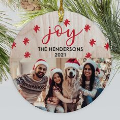 Spruce up your Christmas tree this year with an adorable photo ornament personalized with your favorite family photo from the past year #rusticornamentideas #photoornaments #personalizedchristmasornaments #familyornamentideas Photo Ornaments, Glass Christmas Ornaments, Christmas Stockings, Wood Background, How To Make Ornaments, Personalized Family Ornaments, Personalized Gifts, Unique Gifts, Great Gifts