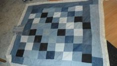 It started as a weekend project for myself, before i knew it i had a quilt and i never paid a penny for it!, I cut all the squares, put an old wool blanket
