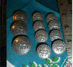 Vintage pewter buttons
