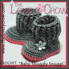 Baby Uggs Crochet Pattern BABY SNUGGLY SNUGGS digital by ebethalan, $5.95
