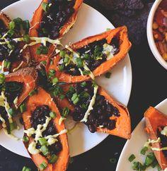 Loaded Sweet Potato Black Bean Boats #minimalistbaker