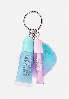 Unicorn Pom Lip Gloss Duo Jerzey has this. Unicorn Rooms, Unicorn Bedroom, Cute Unicorn, Rainbow Unicorn, Unicorn Birthday, Unicorn Party, Justice Accessories, Unicorn Fashion, Unicorn Makeup