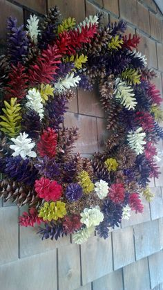 Harvest Wreath - Large 26'' ! Fall wreath - Pinecone Wreath - pefect for harvest or year round!