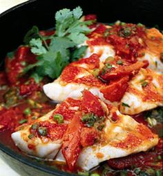 Recipes from The Nest - Veracruz-Style Red Snapper Fillets With Tomatoes, Capers, and Olives