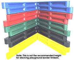 Plastic borders, 9 inch high models.$26.50 for black timbers 4' length
