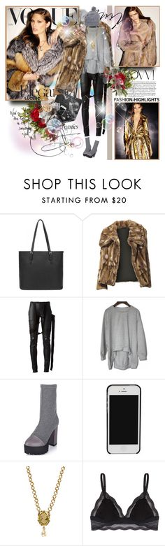 """Catherine McNeil for Vogue Spain 2015"" by merrygorounds ❤ liked on Polyvore featuring Nearly Natural, Rick Owens, Dolce&Gabbana, Markus Lupfer, beanies, fur, polyvoreeditorial and lucluc"