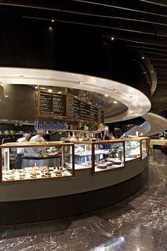 Ragù Pasta and Wine Bar - Luchetti Krelle Rooftop Restaurant, Restaurant Concept, Restaurant Design, Interior Designers Sydney, Food Court Design, Airport Food, Restaurants, Counter Design, Restaurant Furniture