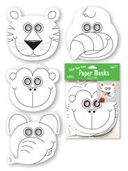 Jungle Buddies Color-Your-Own Paper Masks