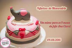 Sweet Cucas and Cupcakes by Rosângela Rolim: Mini Bolo de Mesversário!