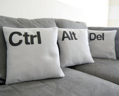 control, alt, delete pillow set - cool for an office or something