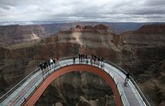 Grand Canyon Sky Walk No picture can truly capture the sheer beauty and magnitude you experience when walking out above the canyon.  Such beauty all around you it is truly magnificent.