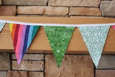 Fabric Banner - Fabric Bunting - St. Patrick's Day by monkeyandlamb on Etsy