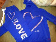 peace love world i am love fleece hoodie pants