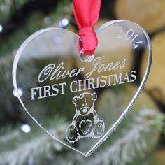 Babys First Christmas Custom Christmas Ornament by SecretCreation