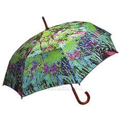 Monet Garden Auto Open Umbrella