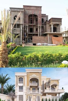 Classic Elegant And Luxury Villa - Sudan House Balcony Design, Two Story House Design, 2 Storey House Design, Classic House Design, Duplex House Design, House Front Design, Small House Design, Classic House Exterior, House Construction Plan