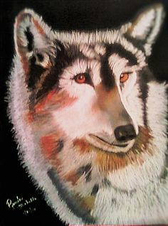 Profile of a Timber Wolf by Renee Michelle Wenker