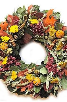 The Southern Fall Wreath proudly welcomes autumn with vibrant florals and greenery so realistic that no on will know it's not the real thing.