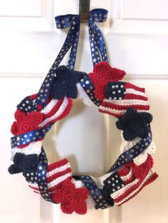 Stashbuilding: FREE Patriotic Wreath to Crochet
