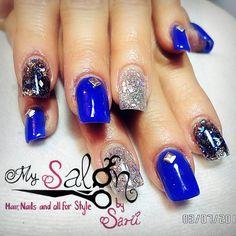41 Mejores Imágenes De Azul Y Verde Organic Nails Blue Nails Y Green