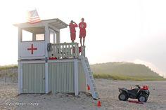 Lifeguards at Crane's Beach, MA.  August 2012.   Photo Nancy Priest.
