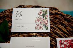 Botanical Wedding Invitation in White and Yellow by CitrusPressCo