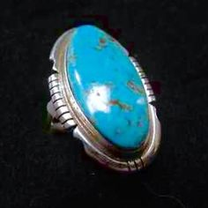 Navajo Signed Sterling Kingman Turquoise Ring A vintage beauty that is in perfect condition, Navajo artist designed and handmade Kingman turquoise sterling silver ring. Size 8. Signed by renowned Navajo silversmith Dave Skeets. This listing is only for the turquoise ring. Vintage Jewelry Rings