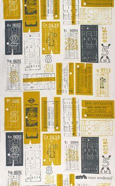 Vintage bus tickets via the London Transport Museum.