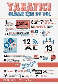 29 Ways to Stay Creative [Infographic] web design, website design, creative, inspiration E-mail Design, Crea Design, Graphic Design, Design Logos, Chart Design, Design Ideas, Interior Design, Inbound Marketing, Marketing Digital