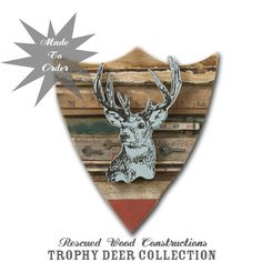 Trophy Deer Collection Original Art Assemblage Made by dolangeiman, $250.00