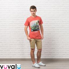Camiseta de niño junior marca  Mayoral que combina fenomenal con  bermuda  camel junior 3271ed68fcd2c