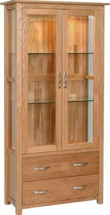 Abbey Oak Display Cabinet With Gl Doors Muebles De Madera Pinterest Cabinets And