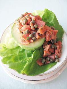 AIP Smoked Salmon and Avocado Boats - Appetizer | http://asquirrelinthekitchen.com