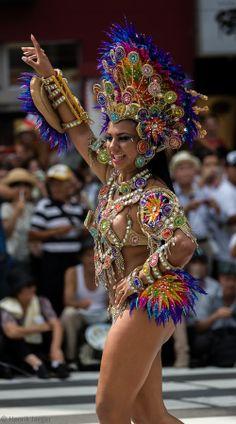 Samba by henrik jaeger on carnaval - samba schools к Carnival Girl, Diy Carnival, Carnival Outfits, Carnival Costumes, Dance Costumes, Trinidad, Divas, Samba Costume, Brazilian Women