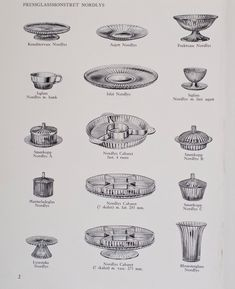Scans from an original Davidson glass catalogue, A great resource for identifying Davidson glass.