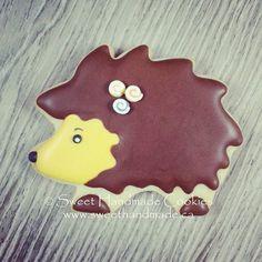 Hedgehog cookie, part of a sweet birthday set.  #sweethandmadecookies #customcookies #decoratedcookies #designercookies #cookies #bradfordontariocookies #hedgehog #hedgehogcookies