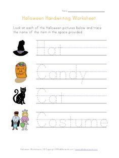 free Halloween worksheets for kids. We have Halloween themed worksheets including activities for handwriting, matching, counting and many more! Handwriting Worksheets For Kids, Learn Handwriting, Improve Your Handwriting, Kids Math Worksheets, Printable Worksheets, Free Printable, Printables, Halloween Worksheets, Halloween Activities For Kids