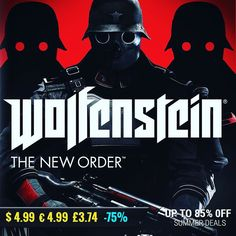 Sila Games summer sale #gamedeals Wolfenstein: The New Order -75% Off $4.99 4.99 3.74 http://ift.tt/2vSx5Cp #bethesda #pcgaming #pcgamer #gaming #siladeals