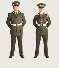 Irish Army cadets' dress uniform.