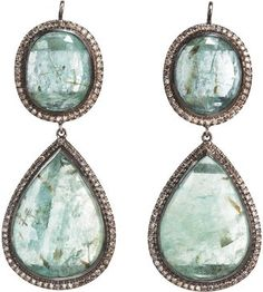 emeralds, champagne, doubl drop, style, diamonds, champagn diamond, diamond doubl, drop earring, earrings