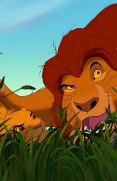 Mufasa and Simba.