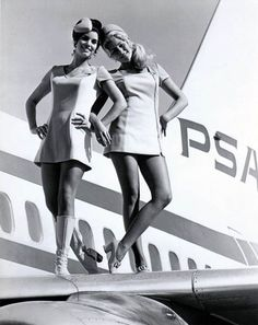Air hostesses #vintage #retro #stewardess